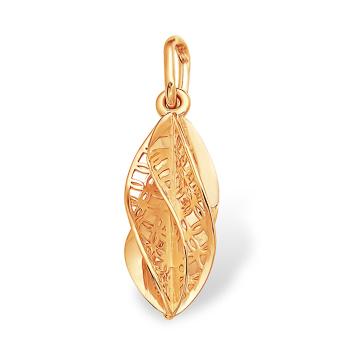 Витиеватая подвеска из золота