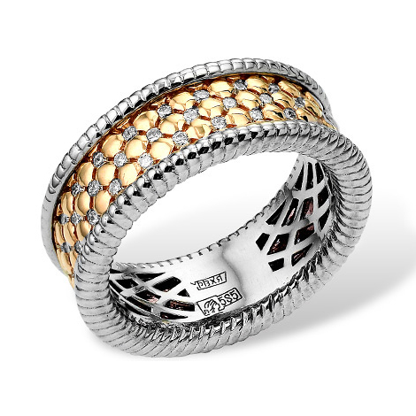 Эксклюзивное золотое кольцо с бриллиантами
