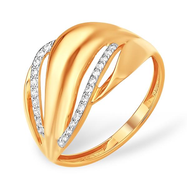 Золотое кольцо с фианитовой дорожкой