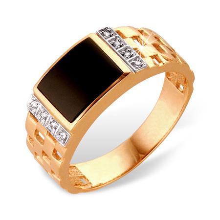 Золотая мужская широкая печатка