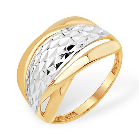 Широкое кольцо с алмазной гранью