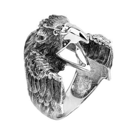 """Мужское кольцо """"Орел"""" из серебра"""