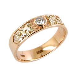 Кольцо из золота с белым фианитом