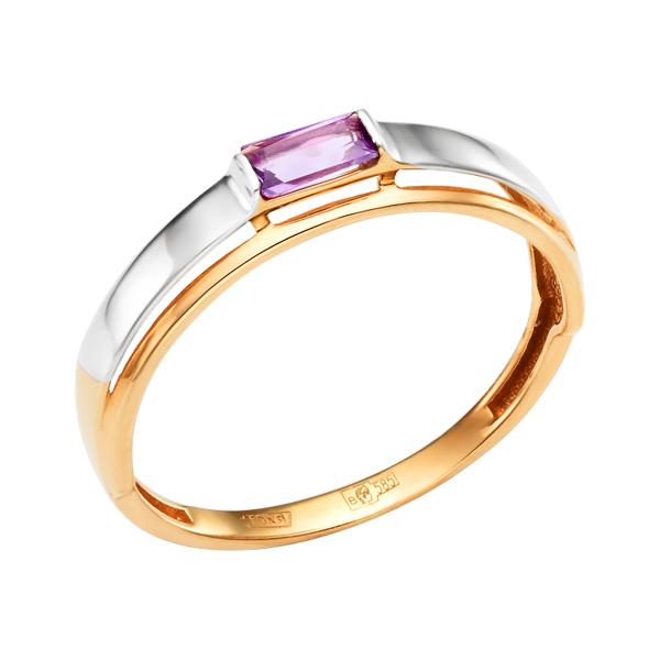 Золоте кольцо с аметистом
