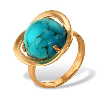 Кольцо из золота с бирюзой
