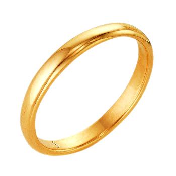 Обручальное кольцо из золота без вставок