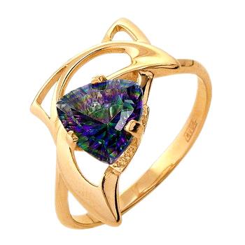 Золотое кольцо с мистическим топазом