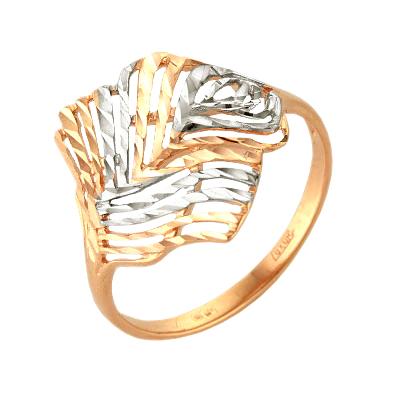 Кольцо из золота с алмазной гранью