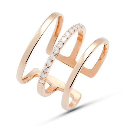 Золотое широкое кольцо