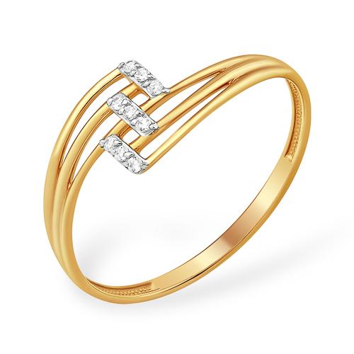 Лёгкое кольцо с фианитами