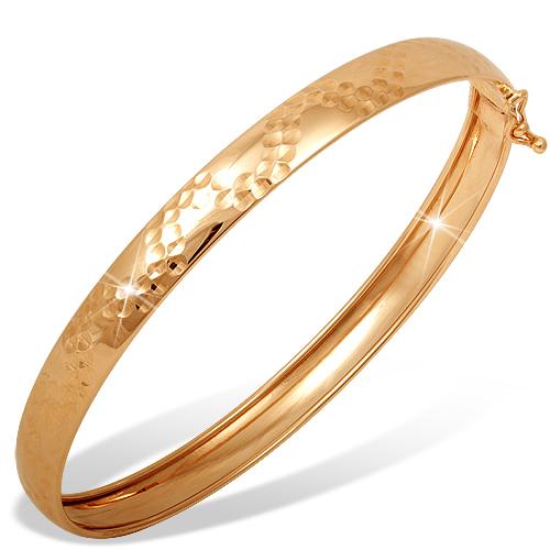 Жесткий браслет из золота с алмазной гранью