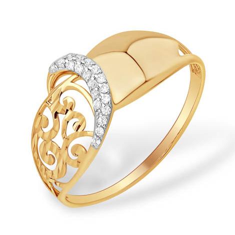 Золотое кольцо с узорами