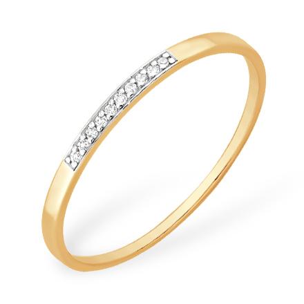 Лёгкое золотое кольцо с бриллиантами