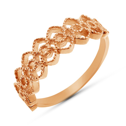 Ажурное золотое кольцо