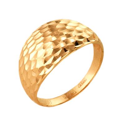 Кольцо из красного золота с алмазной гранью