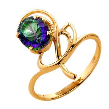Кольцо из золота с мистическим топазом