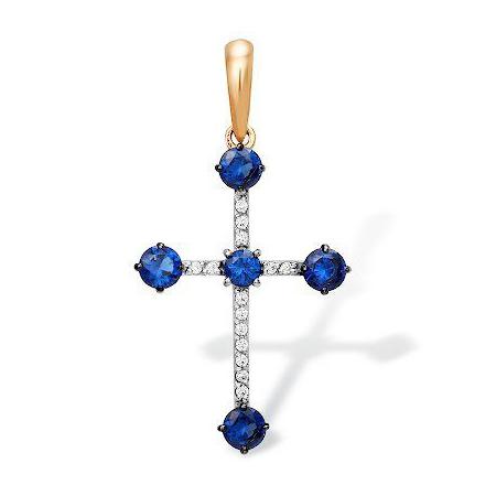 Золото крестик с фианитами