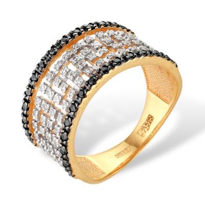 Кольцо из золота с обсыпкой из фианитов