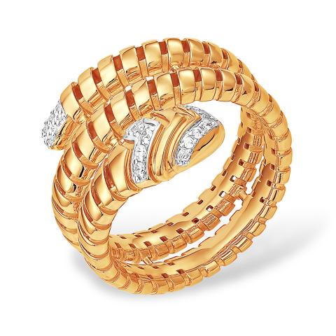 Кольцо из золота в виде змеи