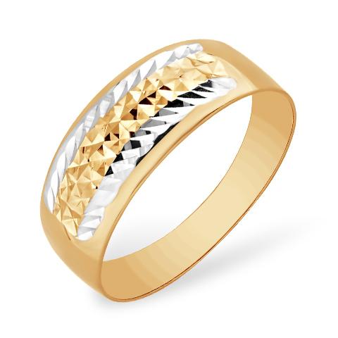 Золотое кольцо с алмазной гранью