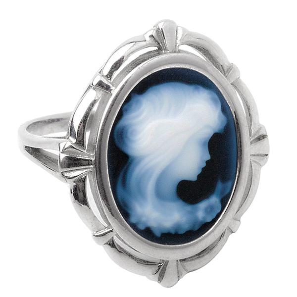 """Кольцо """"камея"""" из серебра"""