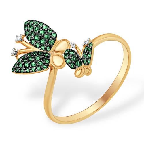 """Золотое кольцо """"две бабочки"""""""