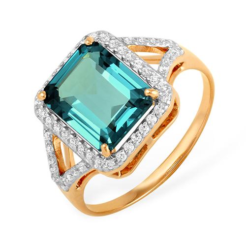 Кольцо перстень с крупным лондон топазом