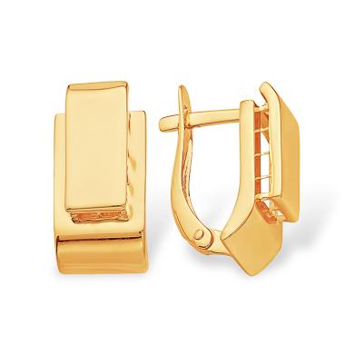 Выпуклые серьги из золота