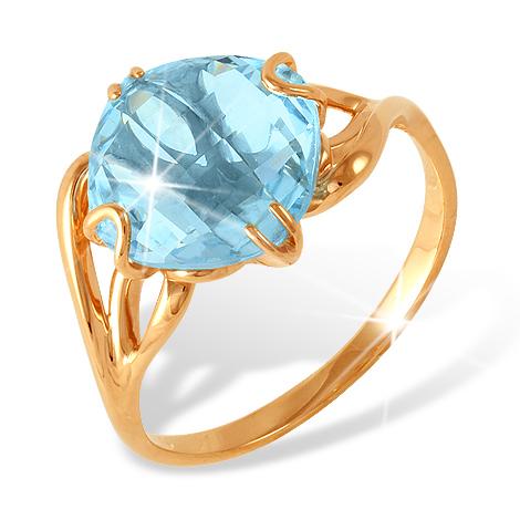 Золотое кольцо с крупным топазом