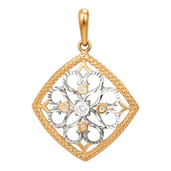 Ромбовидная подвеска с алмазной обработкой