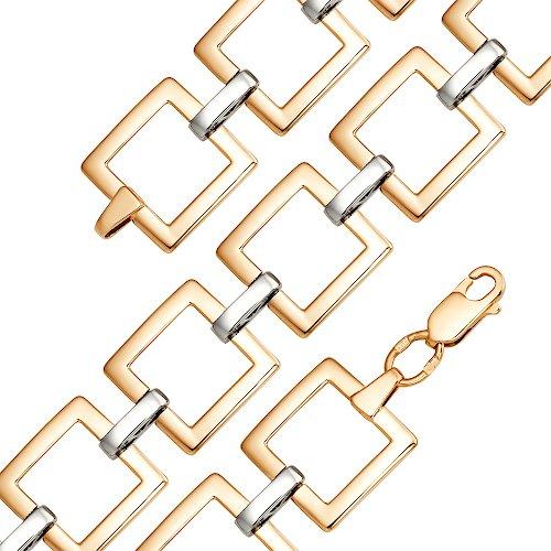 Золотой браслет со звеньями квадратной формы