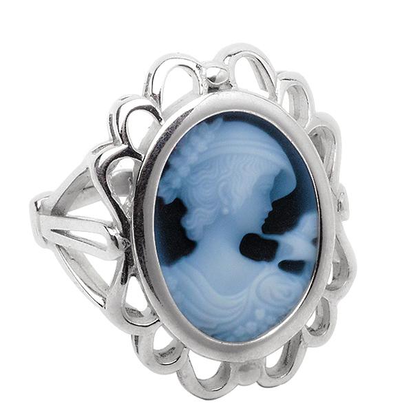 Кольцо с камеей из серебра