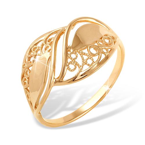 Кольцо из красного золота без вставок