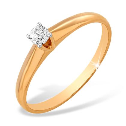 Кольцо из золота для помолвки с бриллиантом