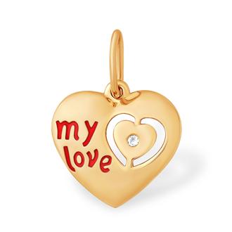 "Подвеска из золота ""my love"""