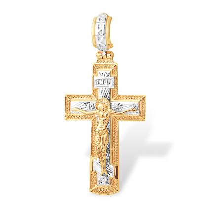 Крупный православный золотой крест