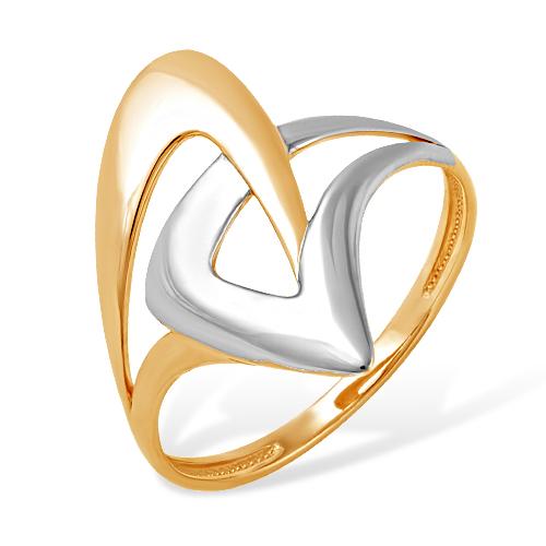 Кольцо из комбинированного золота без вставок