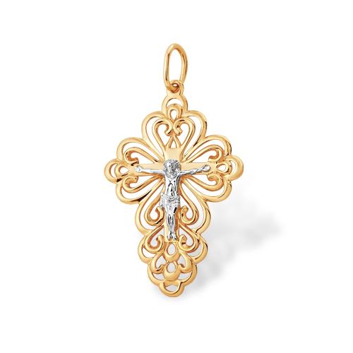 Красивый православный крестик из золота