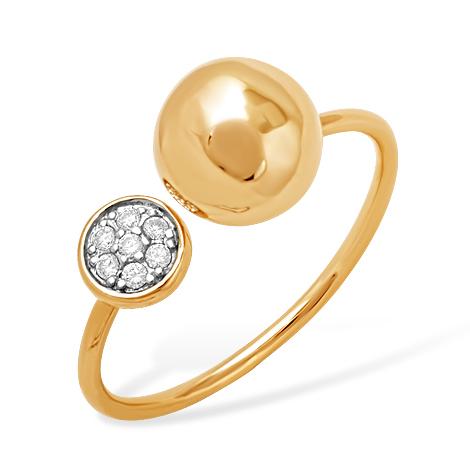 """Кольцо """"Dior"""" из золота с фианитами"""